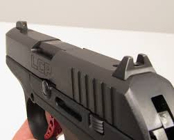 the large metal sights on the lcp custom greatly aid accurate shooting the front sight