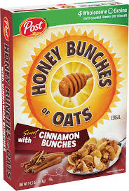 packaging of honey bunches of oats cinnamon bunches