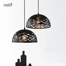 Dome Kitchen Light Fixture Us 81 0 40 Off Nordic Modern Dome Iron Pendant Lights For Bar Dining Room Living Room Study Kitchen Hollow Hanging Lamp Led Lighting Fixtures In