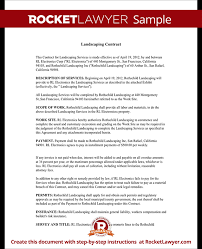 Landscaping Contracts Forms Landscaping Contract Template Lawn