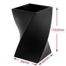 insten black wave pen pencil ruler holder cup stationery desktop organizer soft touch