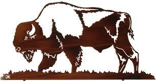 26 buffalo by artist daniel kirchner on western metal wall artwork with 26 buffalo by artist daniel kirchner custom metal wall art