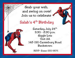 printable birthday invitations net printable spider man birthday invitations 7jcwawxn