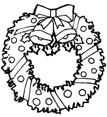 Christmas Wreath Coloring Pages 8 Images Coloring Slpash