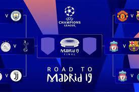 مواعيد مباريات الدور قبل النهائي لبطولة دوري أبطال أوروبا بين برشلونة ضد  ليفربول وتوتنهام ضد أياكس