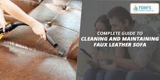 cleaning and maintaining faux leather sofa