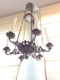 beautiful six light church candlesticks bronze copper church chandelier early 20th century