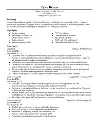 Emt Resume Examples Awesome Security Guard Resume Sample Security