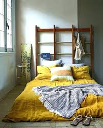 mustard yellow duvet cover ding linen from cb2