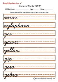 cursive word practice tracing cursive letters worksheets xyz z pinterest cursive