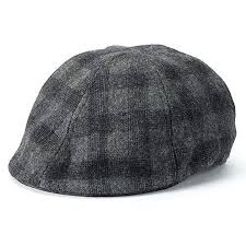 Apt 9 Men Plaid Ivy Newsboy Cap Black Gray Charcoal Cabbie Hat