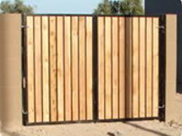 decorative custom wood gate iron gates with wood37
