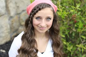cute girls hairstyles. lace braid bangs with beanie cute girls hairstyles