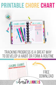 Free Printable Chore Chart I Heart Planners