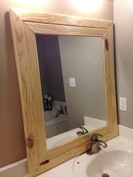 diy wood mirror frame.  Mirror DIY Easy Framed Mirrors  DIYstinctlyMadecom Throughout Diy Wood Mirror Frame