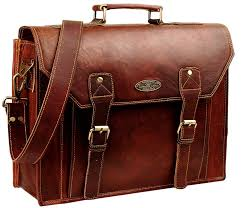 flap leather laptop bags