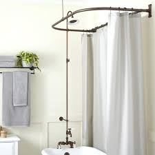 decoration rim mount tub shower kit oil rubbed bronze clawfoot conversion menards