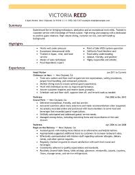 Restaurant Resume Template Stunning Restaurant Resume Sample New 28 Best Resume Templates Images On
