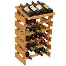 countertop oak wood wine rack wine bottle display