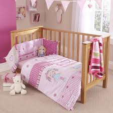 clair de lune 2pc cot bed bedding set my dolly pink