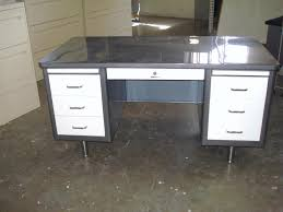 vintage steel furniture. Steelcase Vintage Steel Tanker Desk Stainless Nyc Shown Here Is A Classic Brushed Top And Drawers Furniture
