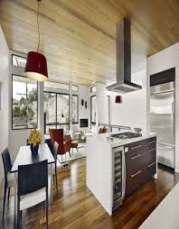 modern country kitchens. Modern Country Kitchen And Dining Room Design With Black Wooden Kitchens