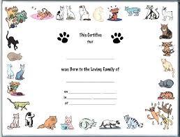 Birth Certificate Template Word Best Printable Pet Birth Certificate Template Rock Techshopsavings