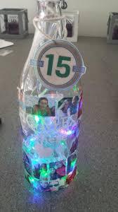 Fles Van De Action Gevuld Met Gekleurde Led Lampjes Batterij Aan De
