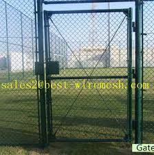 double fence gate. Used Chain Link Fence Gate Double/single Swing Double