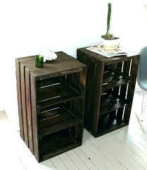 coffee table made from crates crate end table end table made from home depot wine crates