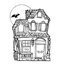 Simple Haunted House Coloring Pages With Free Printable Haunted
