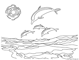 Coloring Book Pages Ocean Dolphin Coloring Page Adult Coloring