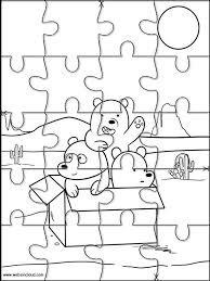 Puzzle Da Stampare Colorare Siamo Solo Orsi 5