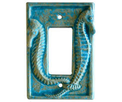 Ceramic Light Covers Sculpted Seahorse Ceramic Switch Plate Cover
