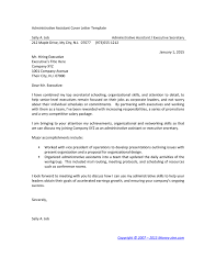 executive assistant cover letters administrative assistant cover letter template in word and