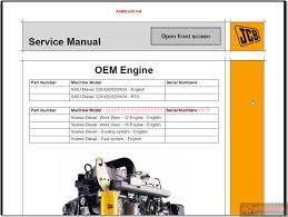 jcb service manuals all models auto repair manual forum heavy