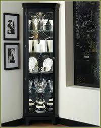 black corner curio cabinet with light intended for cabinets lights lighting fixtures