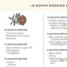 Wedding Schedule 18 Month Wedding Planning Schedule Eventi Weddings
