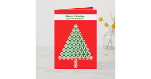 How To Address A Christmas Card Change Of Address Christmas Card Christmas Tree Holiday Card Zazzle Com