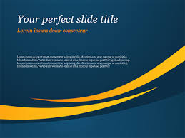 Blue And Orange Powerpoint Template Orange Curves On Blue Background Free Presentation