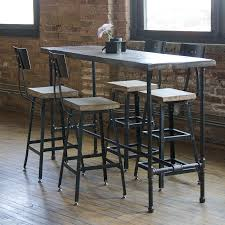 Table Height Stools Kitchen Reclaimed Wood Barstool Industrial Stool Bar Height Seating