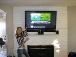 mounting tv above brick fireplace beautiful 99 plasma tv install cost 714 625 2531