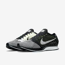 nike running shoes flyknit. nike flyknit racer black/white/volt men\u0027s running shoes sizes 526628 011