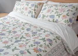manali  floral duvet cover  natural bed company