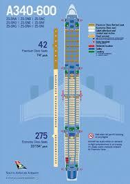 a340 600 seatpmap
