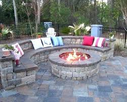 backyard fireplaces ideas small backyard fireplace like the brick color garden design traditional outdoor round patio