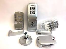 image is loading schlageco100cy70kprho626electroniclock rhodesleversatinchrome schlage electronic locks l27 schlage