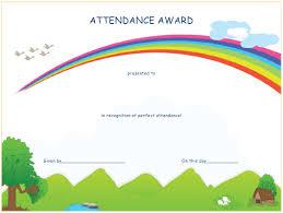Attendance Award Template Perfect Attendance Award Certificate Template Download