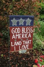 american garden flag. Exellent American God Bless America Burlap Garden Flag In American E