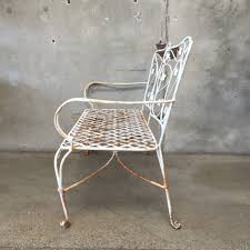 vintage wrought iron garden furniture. vintage wrought iron garden bench furniture